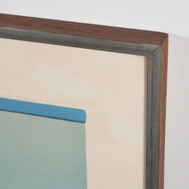 Mid-Century Modern American Ludwig Sander Geometric Color Field Lithograph For Sale - Image 3 of 10