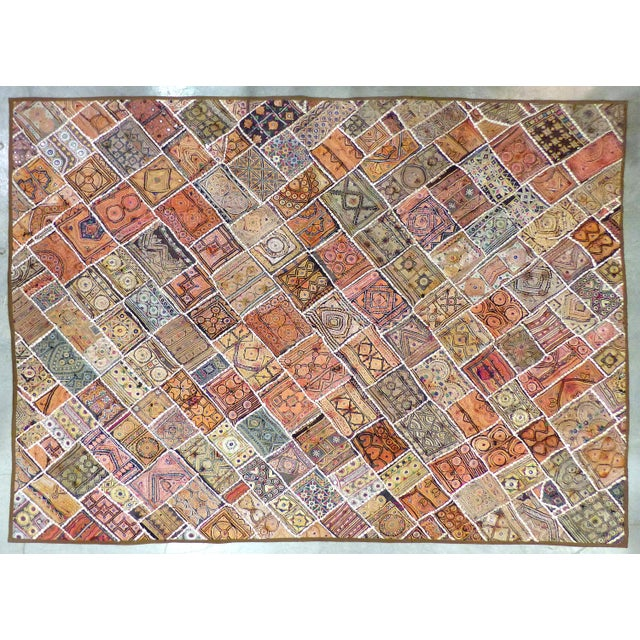 Antique Indian Wedding Saree Quilt For Sale - Image 9 of 9