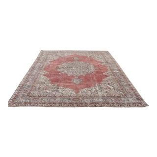 "Hand Wowen Wool Turkish Rug, Rug,Vintage Rug,Beatifull Color Combination Turkish Retro Rug, Home Decor 8'1""x 12'1"" Ft For Sale"