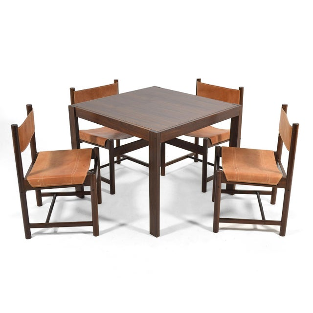 Mid-Century Modern Michel Arnoult Table & Four Chairs For Sale - Image 3 of 11
