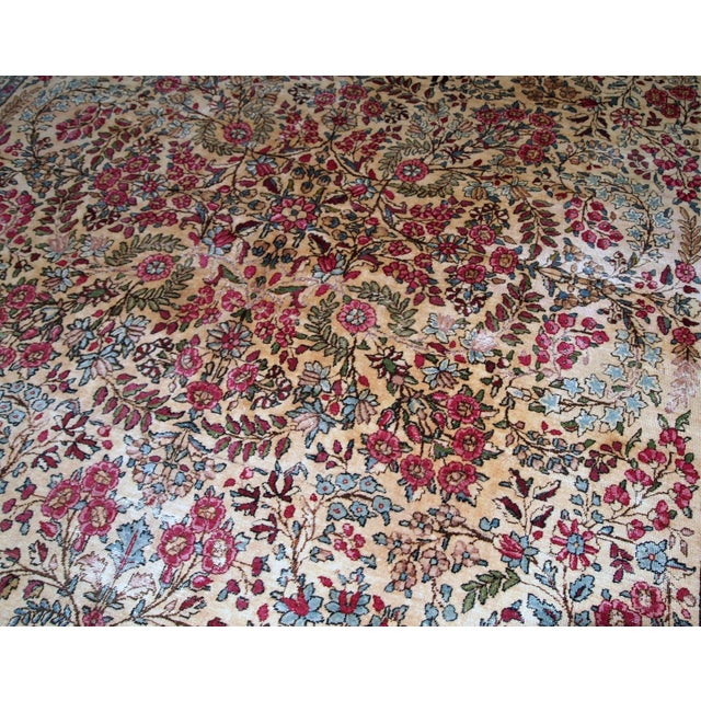 1900 - 1909 1900s, Handmade Antique Persian Kerman Lavar Rug 8.9' X 11.6' - 1b701 For Sale - Image 5 of 13