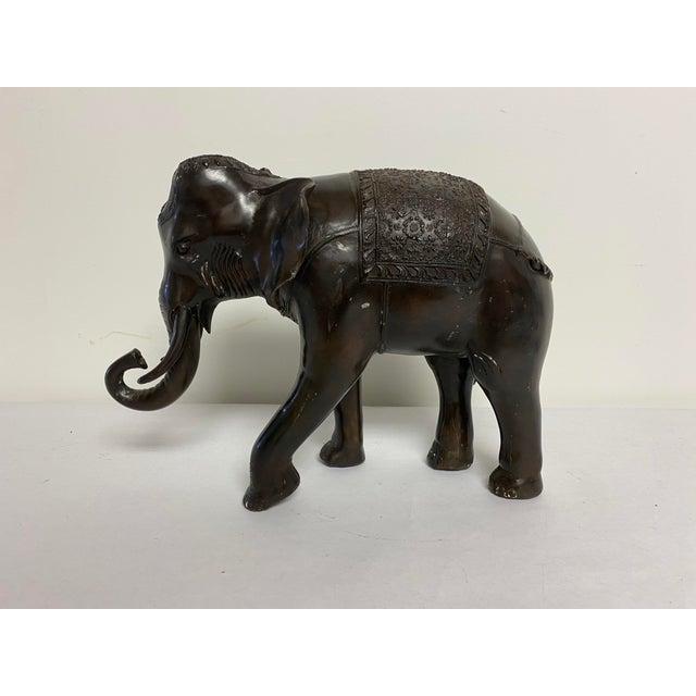 Bronze Bronze Elephant Statue For Sale - Image 8 of 8
