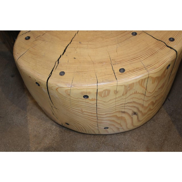 Wood Yin Yang Table by Daniel Pollock- 2 Pieces For Sale - Image 7 of 10