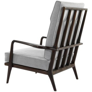 High Back Walnut Armchair by Mel Smillow, 1950s For Sale