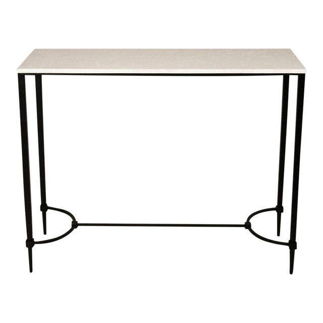 Mismatched Fuller Console With White Marble - Image 1 of 3