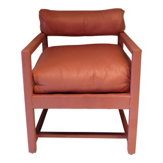 1970s Vintage Milo Baughman Style Parsons Chair For Sale