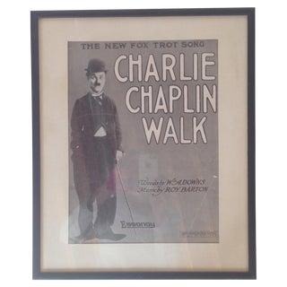 Vintage Framed Poster of Charlie Chaplin