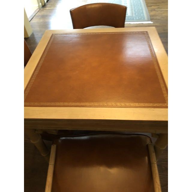 Vintage Game and Card Table With Chairs For Sale - Image 4 of 13