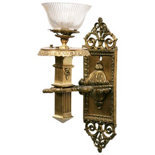 Bronze Edwardian Torchiere Wall Sconce For Sale