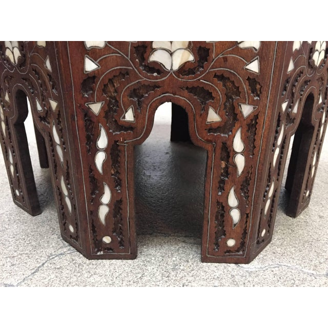 Syrian Mother-Of-Pearl Inlaid Side Table For Sale - Image 4 of 13