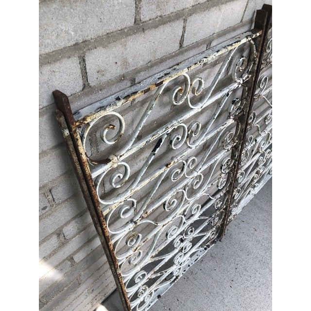 19th Century Victorian Wrought Iron Balustrade Sections - a Pair For Sale In Minneapolis - Image 6 of 13