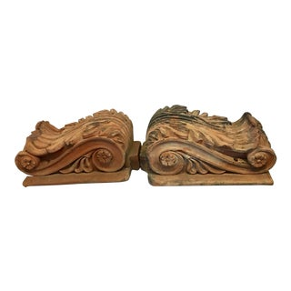Antique Philadelphia Terra Cotta Corbels - a Pair For Sale