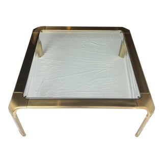 Mastercraft Brass and Glass Coffee Table Designed by John Widdicomb For Sale