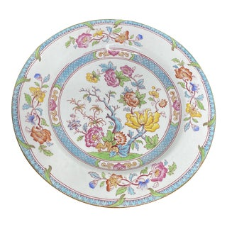 English Cauldron Dinner Plate For Sale
