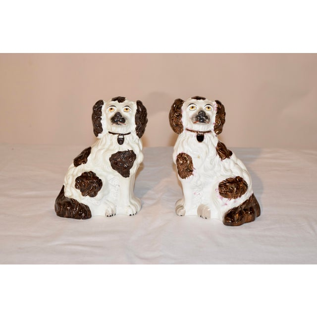 19th C Staffordshire Spaniels - a Pair For Sale In Greensboro - Image 6 of 6