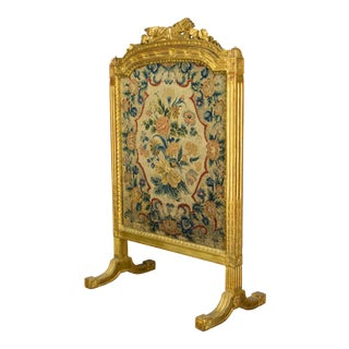 19th Century Vintage Louis XVI Style Fire Screen For Sale
