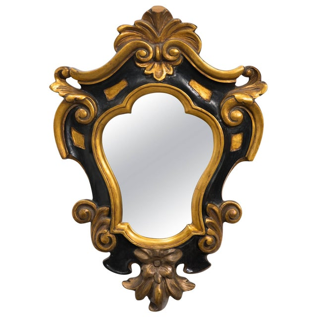 Wood 1930s Carved Wood Rococo Style Mirror For Sale - Image 7 of 7
