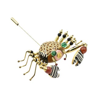 Crab Crawler Brooch by Jewelry 10 For Sale
