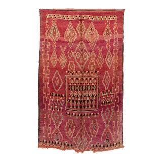 "Beni M'Guild Vintage Moroccan Rug, 5'9"" X 6'11"" / 176 X 210 CM For Sale"