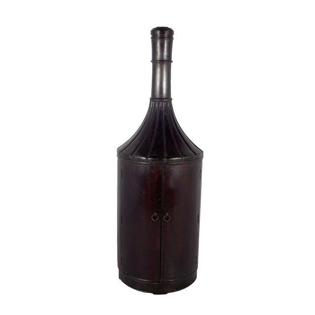 Teak Wood 6ft Bottle Shaped Wine Rack Cabinet - Image 3 of 3