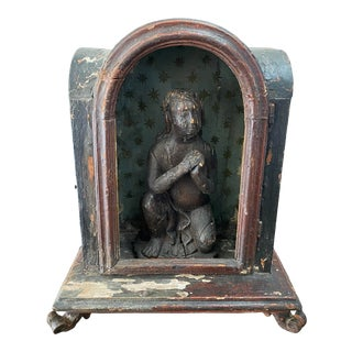 Museum Quality Antique Italian Creche With Santos For Sale
