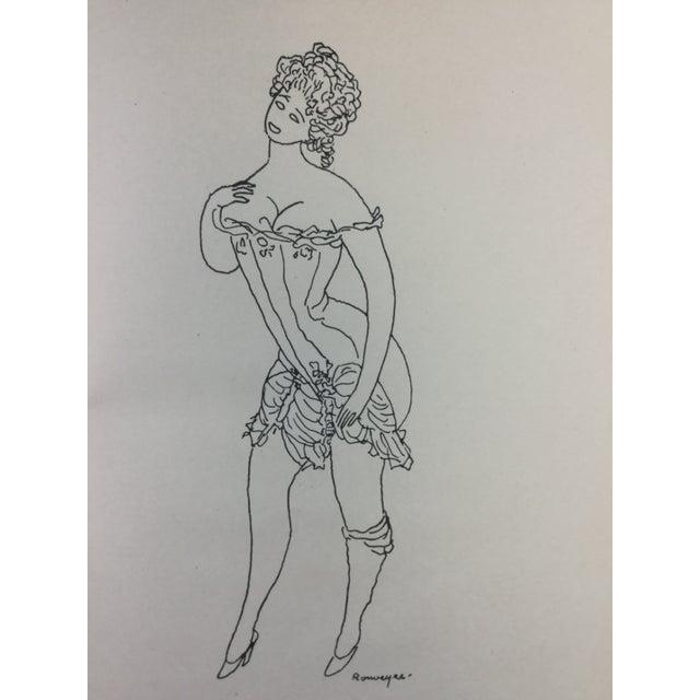1920s 1923 Parisiennes Drawing Print by Remy De Gourmont & André Rouveyre For Sale - Image 5 of 12