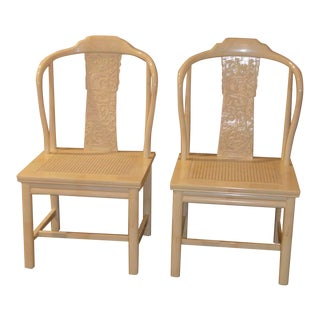 Vintage Henredon Asian Style Accent Chairs - a Pair For Sale