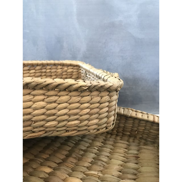 Wicker Basket Trays - Set of 3 - Image 3 of 7