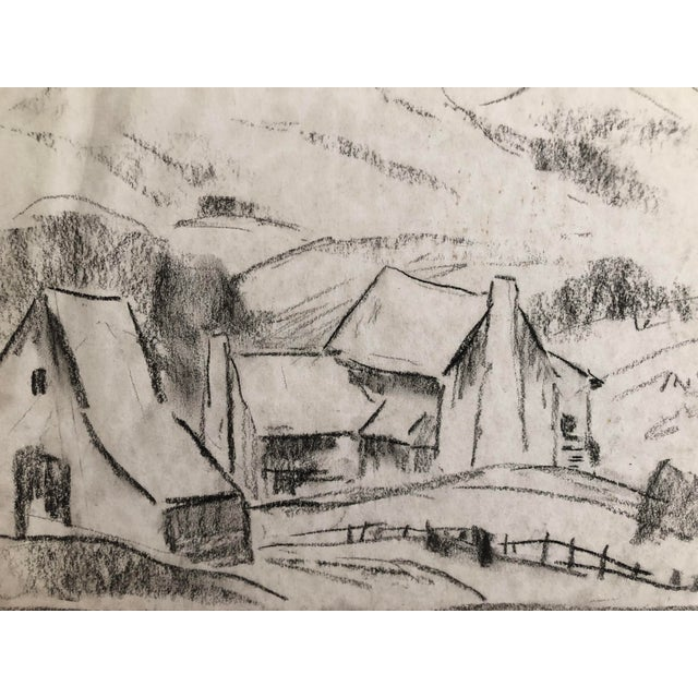 Plein air drawing by Eliot Clark (1883-1980) probably painted/drawn during the 1930s in the western part of Virginia. From...