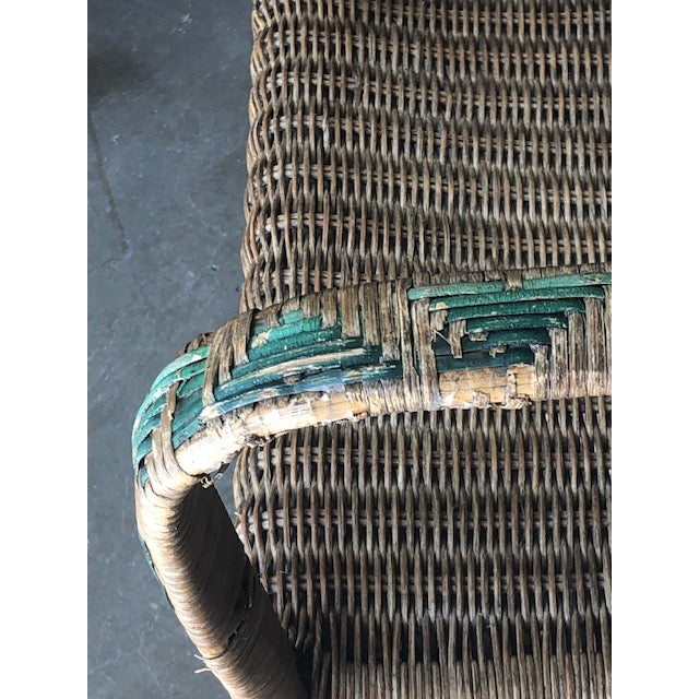 Antique Wicker Chairs-A Pair For Sale In Los Angeles - Image 6 of 11