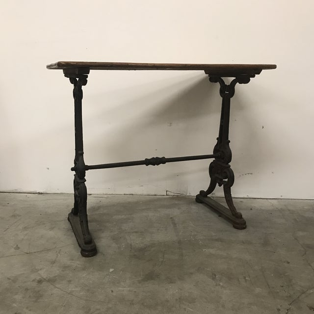 Metal 19th Century Antique French Bistro Table For Sale - Image 7 of 7