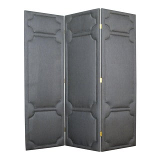 York Upholstered Privacy Screen/Room Divider For Sale