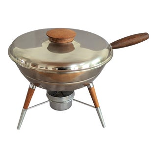 Mid-Century Atomic Chafing Dish For Sale