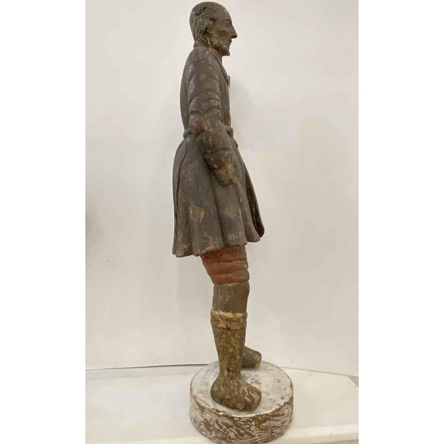 Antique San Isidro 32 In. Wood Statue For Sale In New York - Image 6 of 13
