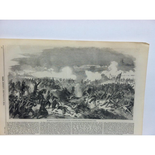 """This is an Antique Original Print from The Illustrated London News that is titled """"The Emperor of the French on the..."""