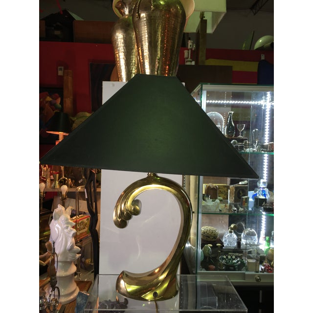 Pierre Cardin Sculptural Brass Table Lamp - Image 2 of 7