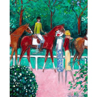 Avant La Course by Jean-Pierre Cassigneul For Sale