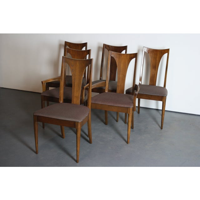 Broyhill Brasilia Walnut Dining Chairs - Set of 6 For Sale - Image 7 of 11