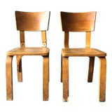 Image of 1960s Vintage Thonet Bentwood Chairs - a Pair For Sale