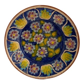 Portugal Pottery Plate Terra Cotta For Sale