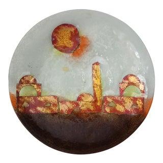 Handmade Art Glass Plate