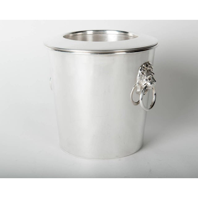 1940s Vintage English Silver Plated Wine Cooler / Ice Bucket For Sale - Image 5 of 6
