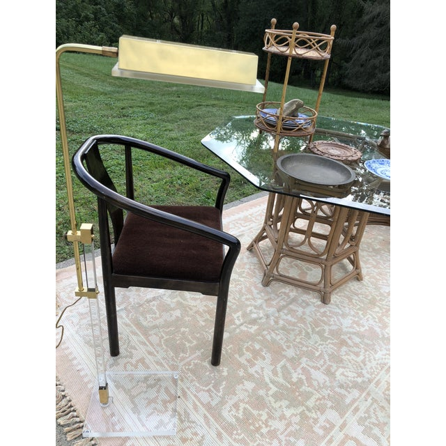 Boho McGuire Style Bent Rattan Table + Octagon Shaped, Beveled Glass Top For Sale - Image 11 of 11