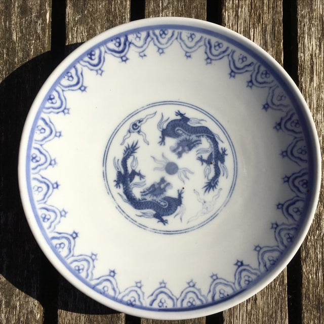 Blue and White Chinoiserie Porcelain Plate - Image 2 of 5