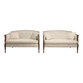 Early 20th Century Fruit Wood Settees, American, a Pair For Sale