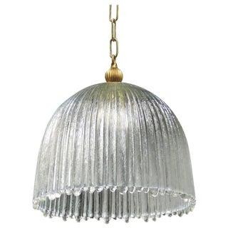 Mid-Century Modern Italian Glass Dome Pendant Light For Sale