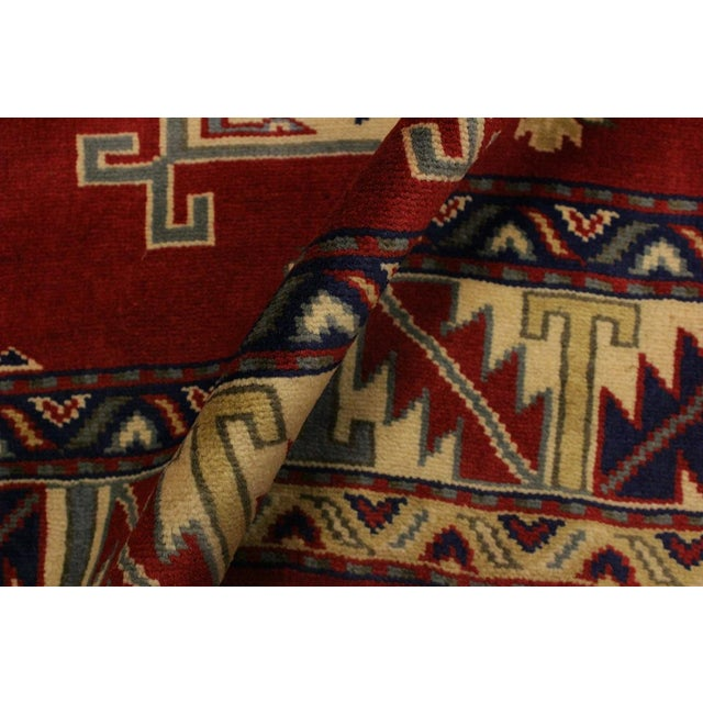 Traditional Sherwan James Red/Ivory Wool Rug - 4'1 X 5'10 For Sale - Image 3 of 8