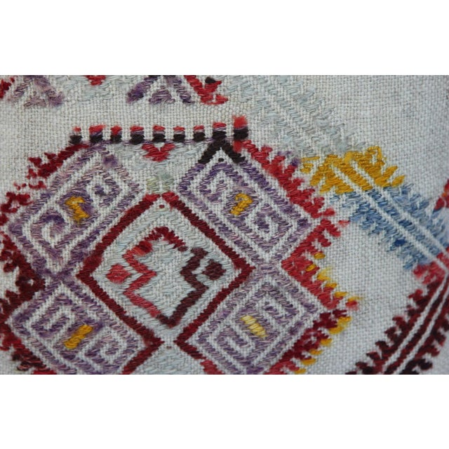 Turkish Handmade Kilim Pillow Cover - Image 4 of 11