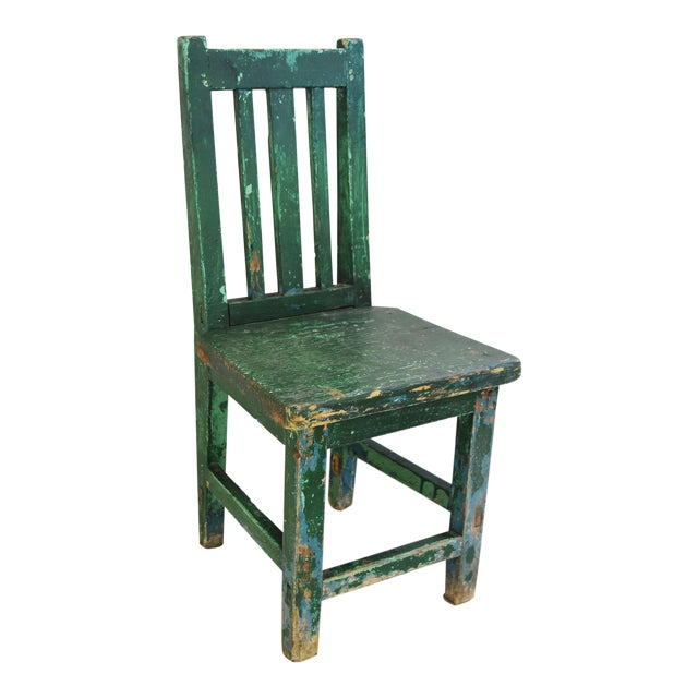 Early 1900s Primitive Country Child's Chair - Image 1 of 9