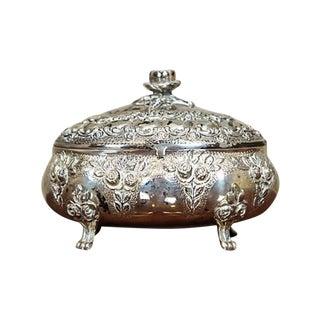 Decorative, Silver Sugar Bowl, circa Second Half of the 20th Century For Sale